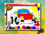 Play Cartoon Cars Coloring Book