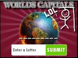 Play Hangman Capitals Cities