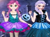 Play Anna And Elsa First Halloween