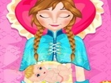 Play Frozen Anna Baby Birth