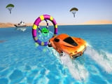 Play Floating Water Surfer Car Driving  Beach Racing