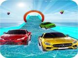 Play Water Slide Car Stunt Racing Game 3D