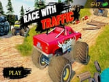 Play Ultimate MonterTruck Race With Traffic 3D
